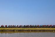 Illustration peloton, during the Tour de France 2018, Stage 4, Team Time Trial, La Baule - Sarzeau (195 km) on July 10th, 2018 - Photo Kei Tsuji / BettiniPhoto / ProSportsImages / DPPI