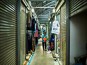 08 AUGUST 2018 - BANGKOK, THAILAND: A new part of Khlong Toei Market in Bangkok. It is the largest market in Thailand.     PHOTO BY JACK KURTZ