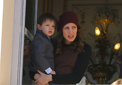 Charlotte Casiraghi and and her son Raphae attending the Monaco National Day Celebrations in the Monaco Palace Courtyard on November 19, 2017 in Monaco, Monaco. Photo by Yuri Krakow/ABACAPRESS.COM