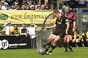 © Peter Spurrier/Intersport Images<br />2004 Zurich Premiership Semi-Final - London Wasps v Northampton Saints  16/05/2004 <br />Mark van Gisbergan kicking in the second half , [Mandatory Credit: Peter Spurrier/Intersport Images],