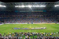 """""""Jogo Contra a Pobreza"""", um amistoso em apoio contra a fome liderada pelo Programa de Desenvolvimento das Nações Unidas (PNUD), entre as equipes """"Amigos de Ronaldo"""" e """"Amigos de Zidane"""" no estádio """"Arena do Grêmio"""" em Porto Alegre em 19 de dezembro de 2012. FOTO: Itamar Aguiar/Peview.com"""