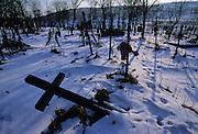 Cleja village, Klésza in Hungarian, the csango cemetery.