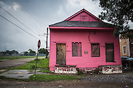July 12, 2015, blighted home nearly ten years-post Katrina.