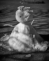 Snowman at the base of Mt Komagatake. Fuji Hakone Izy National Park. Image taken with a  Fuji X-T1 camera and 35 mm f/1.4 lens.