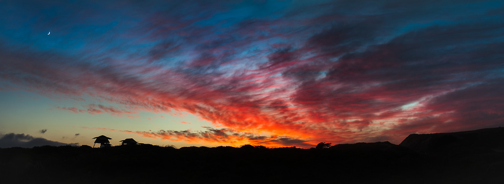 Sunset near Highway 1, CA.
