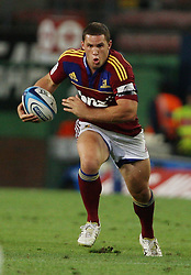 Shaun Treeby sets off on a run during the Super Rugby (Super 15) fixture between the DHL Stormers and the Highlanders held at DHL Newlands Stadium in Cape Town, South Africa on 11 March 2011. Photo by Jacques Rossouw/SPORTZPICS