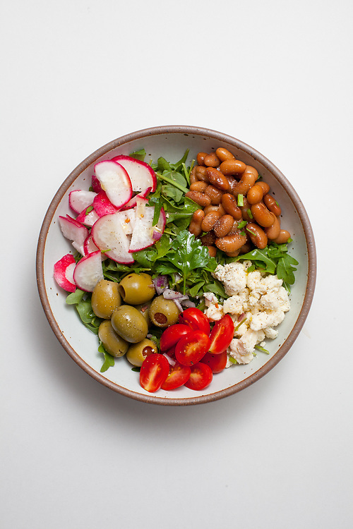 Blue Cheese, White Bean and Arugula Salad from the fridge (m€) - COVID-19 Social Distancing
