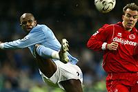 Fotball, 30. november 2003, Premier League, Manchester City - Middlesbrough 0-1,  David Sommeil, Manchester City, og Szilard Nemeth, Middlesbrough, <br /> ,