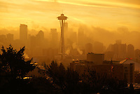 Seattle Skyline from Kerry Park @ Sunrise