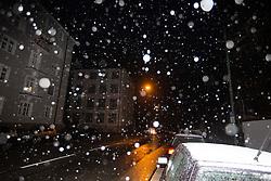 November 18, 2018 - Munich, Bavaria, Germany - First Snowfall in the Bavarian capital Munich, Germany, on 18 November 2018. (Credit Image: © Alexander Pohl/NurPhoto via ZUMA Press)