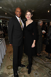 Actor COLIN SALMON and his wife FIONA HAWTHORNE at the Lady Taverners Tribute Lunch in honour of Nicholas Parsons held at The Dorchester, Park Lane, London on 20th November 2009.