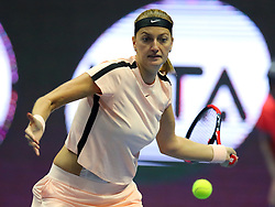February 2, 2018 - Russia - Russian Federation. Saint-Petersburg. SIBUR arena. Tennis. WTA. St. Petersburg Ladies Trophy 2018. Women. Petra KVITOVA - Jelena OSTAPENKO. (Credit Image: © Russian Look via ZUMA Wire)