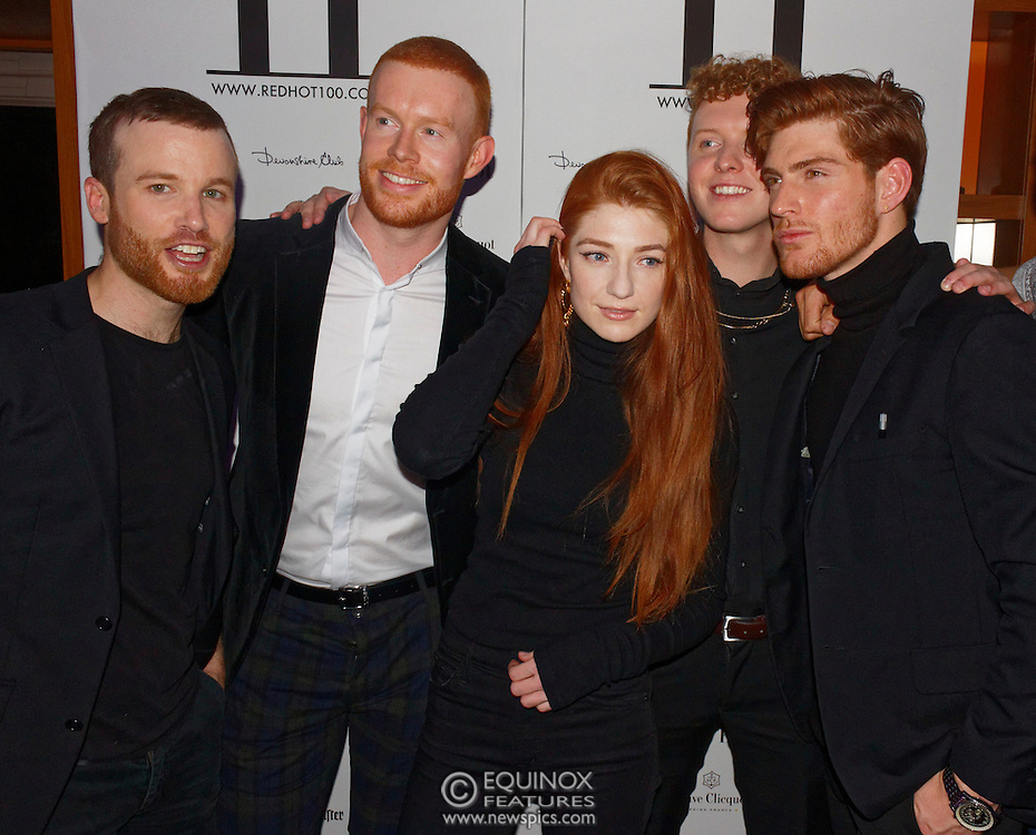 London, United Kingdom - 14 October 2016<br /> Ginger haired Girls Aloud singer Nicola Roberts who modelled for the book with Thomas Knights. The launch of Red Hot II book, a photographic project by photographer Thomas Knights and creative director Elliott James Frieze celebrating red-heads in support of Diana anti-bullying charity, Devonshire Club, London, England, UK.<br /> www.newspics.com/#!/contact<br /> (photo by: EQUINOXFEATURES.COM)<br /> Picture Data:<br /> Photographer: Equinox Features<br /> Copyright: ©2016 Equinox Licensing Ltd. +448700 780000<br /> Contact: Equinox Features<br /> Date Taken: 20161014<br /> Time Taken: 21202992<br /> www.newspics.com