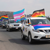 The Diné Pride parade travels down Indian Rte 12 in Window Rock Saturday, June 19.