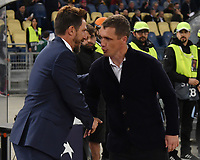 Eusebio Di Francesco of AS Roma and Viktar Hancharenka of CSKA shake their hands prior to the Uefa Champions League 2018/2019 Group G football match between AS Roma and CSKA Moscow at Olimpico stadium Allianz Stadium, Rome, October, 23, 2018 <br />  Foto Andrea Staccioli / Insidefoto