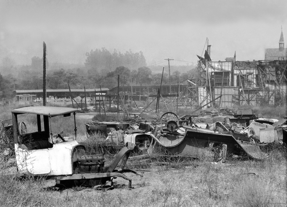The Backlot, Universal City, California, 1926