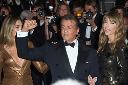 Sophia Rose Stallone, Sylvester Stallone and Jennifer Flavin arriving on the red carpet of 'Rambo First Blood' screening held at the Palais Des Festivals in Cannes, France on May 24, 2019 as part of the 72th Cannes Film Festival. Photo by Nicolas Genin/ABACAPRESS.COM