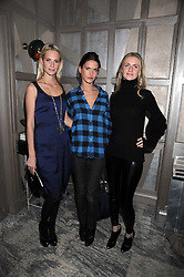 Left to right, POPPY DELEVIGNE, EMILY LOBEL and CHLOE BUCKWORTH at a party for Yves Saint Laurent's Creative Director Stefano Pilati given by Colin McDowell held at The Connaught Bar, The Connaught, Mount Street, London on 29th October 2008.