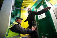 Foto: Gerrit de Heus. Den Haag. 22-04-2012<br /> Steward in het stadion van Ado den Haag.