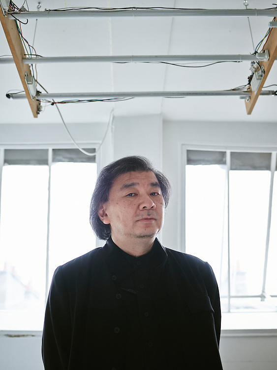 Paris, France. April 3, 2015. Shigeru Ban, architect, in his offices. Photo: Antoine Doyen for the Wall Street Journal. HOUSECALL-BAN