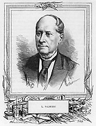 Luigi Palmieri (1807-1896), Italian geophysicist.   Palimieri was director of the Vesuvius Observatory which monitored the activity of the volcano.   In 1855 he invented a seismograph.  From 'Les Nouvelles Conquetes de la Science' by Louis Figuier, Paris, c1893.