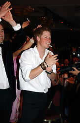 HRH PRINCE HARRY at the Boodles Boxing Ball in aid of the sports charity Sparks  organised by Jez lawson, James Amos and Charlie Gilkes held at The Royal Lancaster Hotel, Lancaster Terrae London W2 on 3rd June 2006.<br /> <br /> NON EXCLUSIVE - WORLD RIGHTS