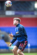Bolton wanderers Ben Jackson warming up before  the EFL Sky Bet League 2 match between Bolton Wanderers and Cheltenham Town at the University of  Bolton Stadium, Bolton, England on 16 January 2021.