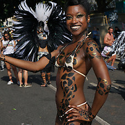 Thousands attend to watch the Notting Hill Carnival 2017 parade begin at  Westborne park  on 28th August 2017, London, UK.