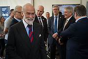 PRINCE MICHAEL OF KENT, Preview for The London Motor Show, Battersea Evolution. London. 5 May 2016