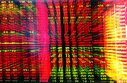 The stock trading board seen at a security exchange house in Shanghai, China on 14 July 2009.