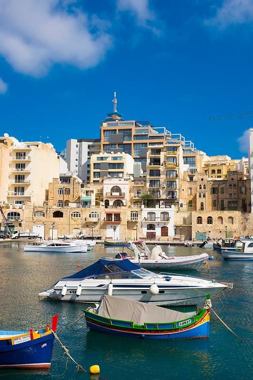 Spinola Bay, in Saint Julians, Malta