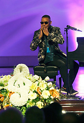 20 November 2015. Orpheum Theater, New Orleans, Louisiana. <br /> Memorial service for musician Allen Toussaint. <br /> <br /> Photo; Charlie Varley/varleypix.com