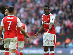 23 April 2017 FA Cup semi-final : Arsenal v Manchester City :<br /> Danny Welbeck (23) of Arsenal in conversation with Alexis Sanchez.<br /> Photo: Mark Leech