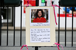 June 16, 2017 - Birstall, West Yorkshire, UK - Birstall, UK. Tributes are left in Birstall town square where the Labour MP Jo Cox was murdered a year ago today. Events are planned to take place across the country this weekend in memory of Jo Cox in what is being called 'The Great Get Together' (Credit Image: © Ian Hinchliffe/London News Pictures via ZUMA Wire)