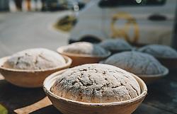 THEMENBILD - Brotlaibe in Gärkörbe, aufgenommen am 10. April 2020 in Kaprun, Oesterreich // Bread loaves in fermentation baskets, in Kaprun, Austria on 2020/04/10. EXPA Pictures © 2020, PhotoCredit: EXPA/Stefanie Oberhauser