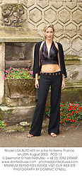 Model LISA BUTCHER on a trip to Reims, France on 20th August 2002.<br />