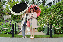 Left to right, CLEMENTINE FRASER and KIRSTY ALLSOPP at the 2015 RHS Chelsea Flower Show at the Royal Hospital Chelsea, London on 18th May 2015.