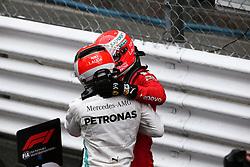 May 26, 2019 - Monte Carlo, Monaco - xa9; Photo4 / LaPresse.26/05/2019 Monte Carlo, Monaco.Sport .Grand Prix Formula One Monaco 2019.In the pic: Sebastian Vettel (GER) Scuderia Ferrari SF90 and Lewis Hamilton (GBR) Mercedes AMG F1 W10 (Credit Image: © Photo4/Lapresse via ZUMA Press)
