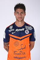 Paul LASNE - 23.07.2014 - Portraits officiels Montpellier - Ligue 1 2014/2015<br /> Photo : Icon Sport