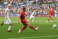 Football - 2018 / 2019 Sky Bet EFL Championship - Swansea City vs. Nottingham Forest<br /> <br /> Ben Osborn of Nottingham Forest crosses , at Liberty Stadium.<br /> <br /> COLORSPORT/WINSTON BYNORTH