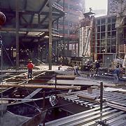 Skyscraper construction site, Boston, Massachusetts, USA