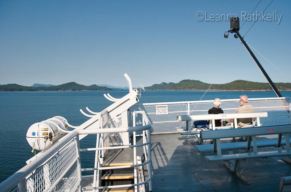 The Mayne Queen navigates through the Gulf Islands, near Victoria BC Canada