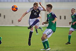 EDINBURGH, SCOTLAND - Sunday, October 30, 2016: Scotland's Dean Campbell in action against Northern Ireland during the opening match of the Under-16 2016 Victory Shield at ORIAM. (Pic by David Rawcliffe/Propaganda)
