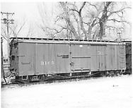 Side view of box car #3165 at Farmington.<br /> D&RGW  Farmington, NM  Taken by McCarter, M. D. - 3/22/1969