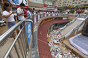 WUHAN, CHINA - JULY 10: <br /> <br /> Shoes and bags float at a flooded shopping mall on July 10, 2016 in Xinxiang, Henan Province of China. An overnight rainstorm hit Xinxiang and affected about 241,000 people by Sunday morning. <br /> ©Exclusivepix Media