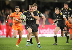 14072018 (Durban) Daniel Du Preez sharks player with a ball during a match of Sharks vs Jaguares at the Vodacom Super Rugby at Kings Park stadium, Durban.<br /> Picture: Motshwari Mofokeng/African News Agency/ANA