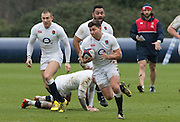 Bagshot, Surrey. UK.<br /> Ben YOUNGS, during the <br /> RFU. England Rugby Team, Training session at the Pennyhill Park training complex. <br /> <br /> [Mandatory Credit: Peter SPURRIER;Intersport images]