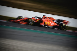 February 28, 2019 - Barcelona, Catalonia, Spain - CHARLES LECLERC (MON) from team Ferrari drives in his SF90 during day seven of the Formula One winter testing at Circuit de Catalunya (Credit Image: © Matthias OesterleZUMA Wire)
