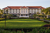Right in the center of town, the Grand Hotel d'Angkor is simply the best hotel in Siem Reap. It remains unrivalled for luxury, charm and service. The imposing colonial facade gives way to a marble lobby, connected by art deco black-and-white halls to the rooms and fine services.