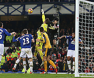 Petr Cech of Arsenal joins in the attack in extra time during the English Premier League match at Goodison Park Stadium, Liverpool. Picture date: December 13th, 2016. Pic Simon Bellis/Sportimage